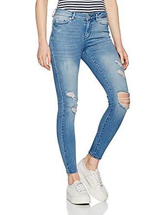 69a33b55c3d4a Vero Moda Vmseven Nw Super Slim Ankle Jeans Ba625 Bleu (Medium Blue Denim),