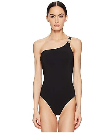 68a243b389b20 Tory Burch Gemini One Shoulder One-Piece (Black) Womens Swimsuits One Piece