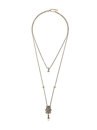Alexander McQueen double-wrap beetle necklace - Gold