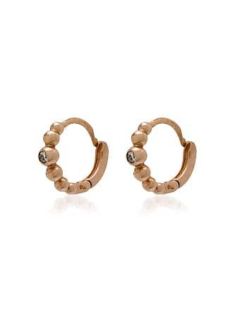 Gigi Clozeau Par de bricnos de ouro rosê com diamante - Metálico