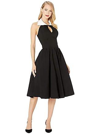 Unique Vintage Collared Dress (Black/White) Womens Dress
