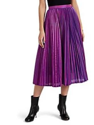 8dd92fbd8348 Akira Naka Womens Iridescent Plissé Satin Skirt - Purple Size 1 JP