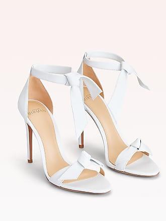 Alexandre Birman Clarita 100 Leather Sandal - 35.5 White Nappa Leather