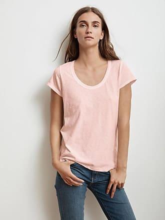 Velvet Katie City Cotton Slub T-Shirt in Rosetta Pink - Medium