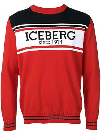 Iceberg intarsia logo sweater - Red