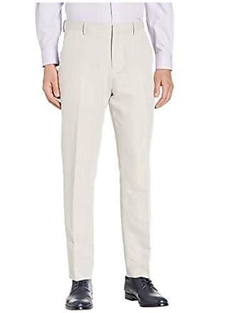 3aa199870b7ce5 Perry Ellis Mens Portfolio Modern Fit Linen Blend Pants, Natural, 29x30