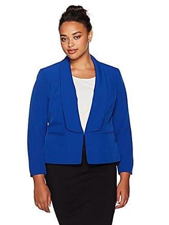 1e50bd2d39 Kasper Womens Plus Size Wing Collar Stretch Crepe Flyaway Jacket