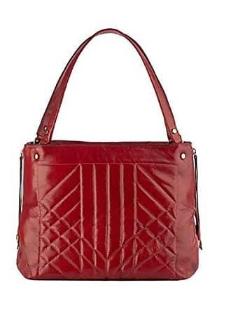 Andrea Vinci Bolsa de couro legítimo Giovanna vermelha