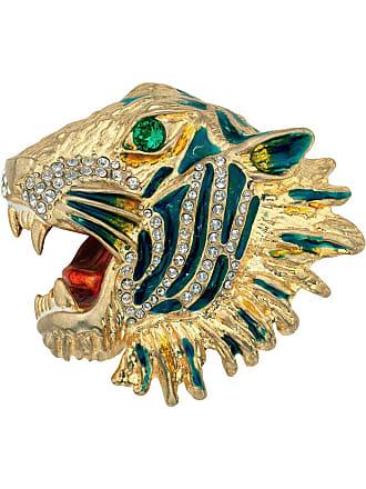 2b832bbcf54 Gucci Metal tiger head brooch - Yellow