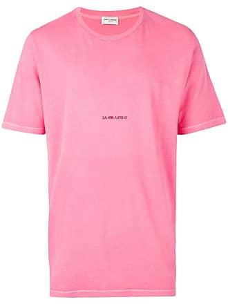 Saint Laurent logo T-shirt - Pink