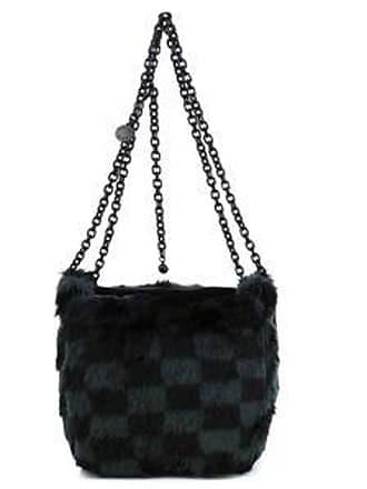 Kendall + Kylie Bolsa Bucket con Textura Suave<br>Negro y Gris<br>20 x 21 x 18 cm