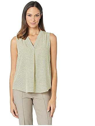 f8148d21b92c6 Vince Camuto Sleeveless V-Neck Linear Motion Blouse (Blazing Yellow) Womens  Blouse