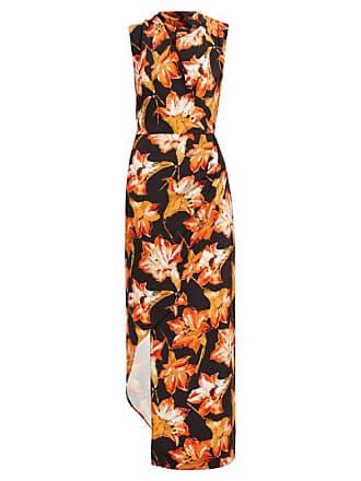 Raey Cowl Neck Asymmetric Lily Print Silk Dress - Womens - Red Print