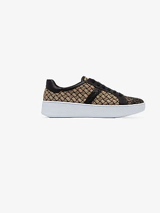 Bottega Veneta woven metallic fabric trainers