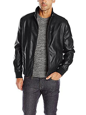 Tommy Hilfiger Mens Smooth Lamb Touch Faux Leather Unfilled Bomber, Black, XXL