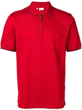 Brioni Camisa polo com zíper na gola - Vermelho
