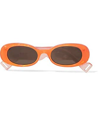 3c9c7fe57e8 Gucci Oval-frame Acetate Sunglasses - Orange