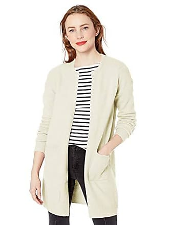 Nicole Miller Womens Ribbed Long Cardigan Sweater, Coconut Milk-27013, Large