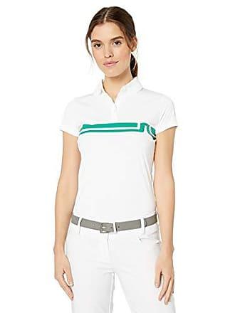 J.Lindeberg Womens Striped Logo Polo Shirt, White Small