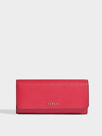 f49783aacb774 Furla Portemonnaie mit Taschenklappe Babylon XL aus Kalbsleder Saffiano in  Rot