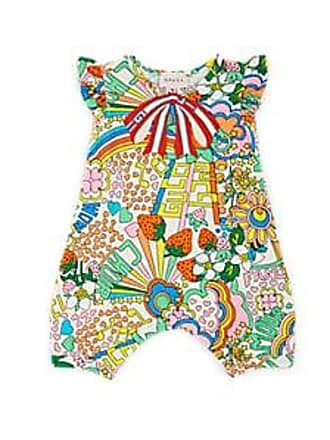 af5ce6afbfa6 Gucci Infants Logo-Print Cotton-Blend Piqué Romper Size 12 18