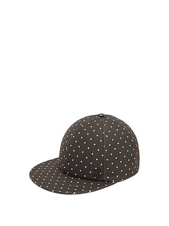 Maison Michel Hailey Polka Dot Cap - Womens - Black White