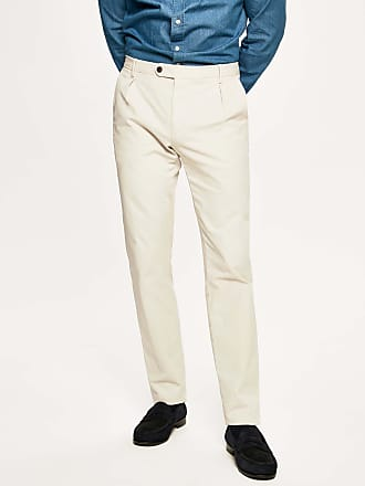 Hackett Mens Icon Stretch Cotton Chino Trousers | Size 36Regular | Oyster