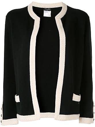 Chanel cashmere collarless jacket - Black