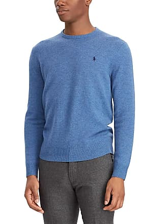 Polo Ralph Lauren Pull en laine mérinos col rond slim fit Bleu Polo Ralph  Lauren 64ef09fa862f