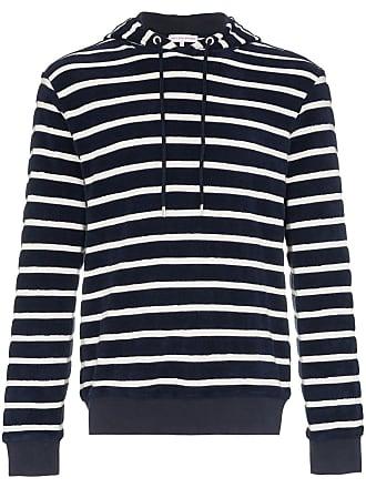 Orlebar Brown Powell Hudson striped towelling hoodie - Azul