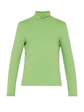 CALVIN KLEIN 205W39NYC Calvin Klein 205w39nyc - Roll Neck Cotton Blend Top - Mens - Green