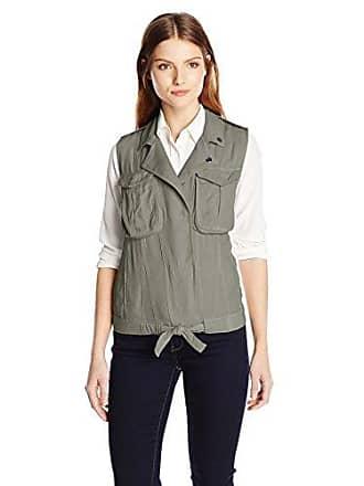 Kensie Jeans Womens Utility Cargo Vest, Sea Grass, X-Small