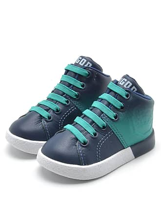 Tigor T. Tigre Tênis Couro Tigor T. Tigre Menino Recorte Azul-Marinho/Verde