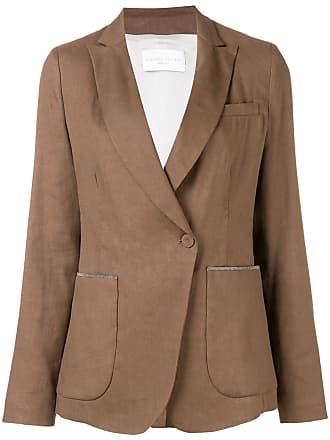 Fabiana Filippi beaded details blazer - Brown