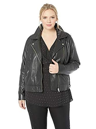 Lucky Brand Womens Plus Size CORE Leather Moto Jacket, Lucky Black, 2X