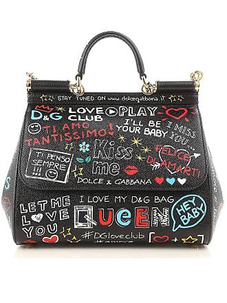 Dolce   Gabbana Top Handle Handbag On Sale, Black, Leather, 2017, one ba6ad5a358
