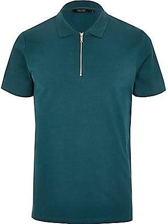 4ff6c4fab65b2e Jack   Jones Mens Jack and Jones Blue zip polo shirt