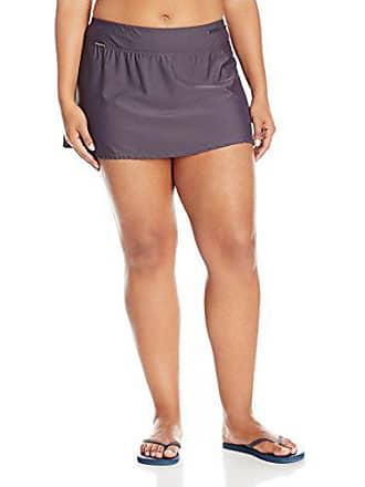 ZeroXposur Womens Plus-Size Action Skirted Bikini Bottom, Slate, 18W