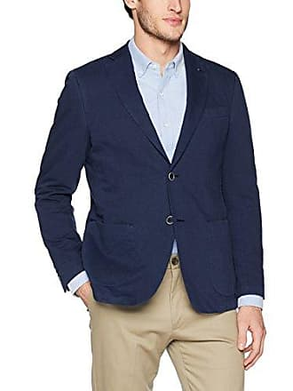 Bugatchi Mens Two Button Unconstructed Single Breasted Navy Blazer, 38
