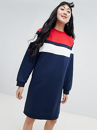 454b055c0bf Monki Robe sweat en jersey - Bleu marine - Multi
