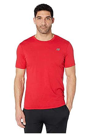 5c894494 New Balance Heather Tech Short Sleeve (Team Red Inline) Mens T Shirt