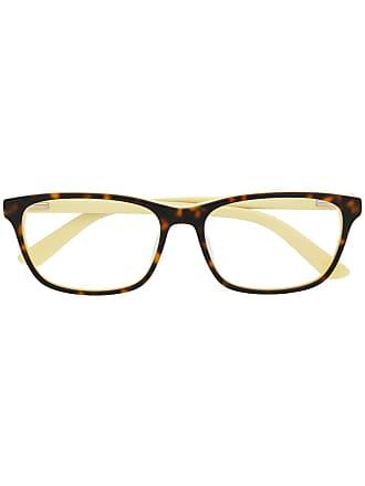 Calvin Klein rectangular glasses frames - Marrom