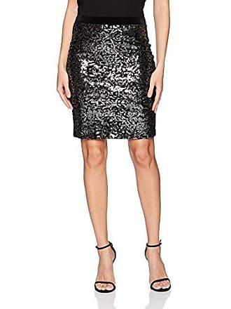 Karen Kane Womens Sequin Skirt, Black, XS