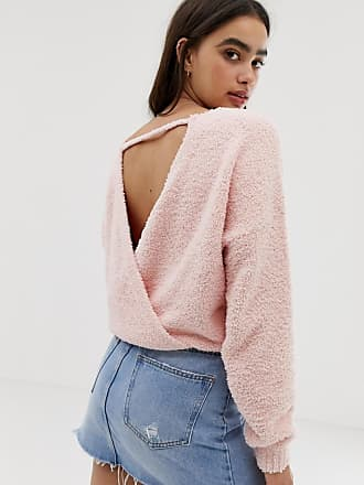 Hollister supersoft sweater with wrap back detail - Pink