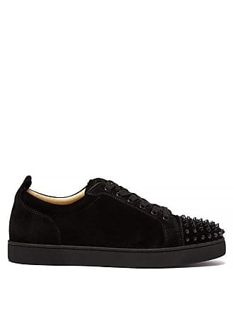 7adad6fb3f1 Christian Louboutin Louis Junior Spike Embellished Leather Trainers - Mens  - Black. In high demand