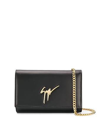 Giuseppe Zanotti logo appliqué clutch bag - Black