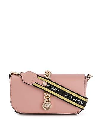 Versace Jeans Couture Bolsa tiracolo com detalhe de corrente - Rosa