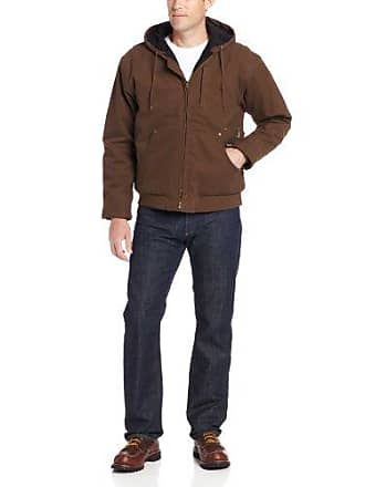 Wolverine Mens Cameron Comfort Hooded Duck Jacket, Bison, XX-Large
