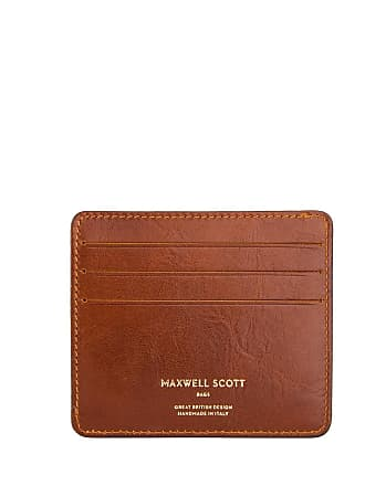 Maxwell Scott Maxwell Scott - Luxury Mens Italian Leather Credit Card Holder in Tan