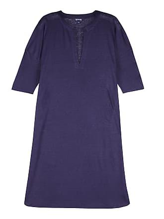 Vilebrequin Women Ready to Wear - Women Long linen jersey Tunic Dress Solid - COVER-UP - FARLINE - Blue - S/M - Vilebrequin